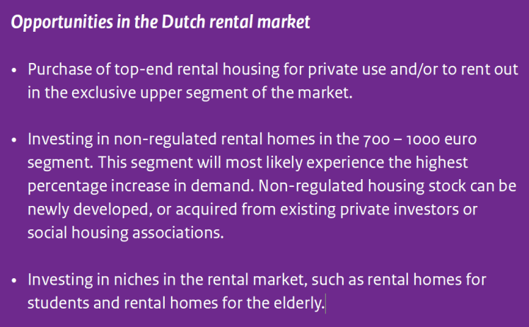 Investment opportunities in the Dutch rental market