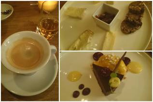 Restaurant Toujours: cheese plate and dessert (Photo: Arianna Ardia)