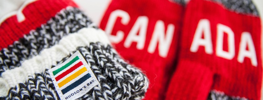 Hudson's Bay Company Canadian Olympic mittens