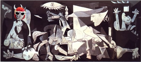 Picasso's Guernica aka What it's like to fly with children