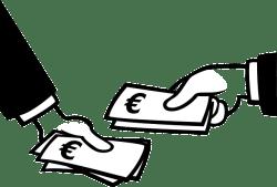 betalen om geld te verdienen