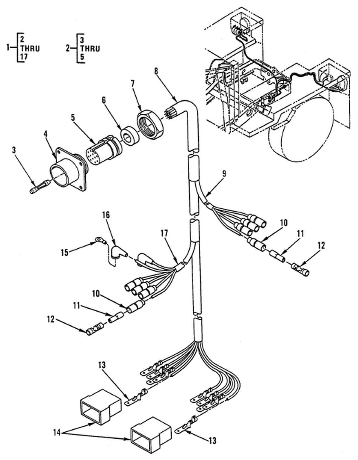 00 2 Figure 87 Hull Or Chassis Wiring Harness Trailer Wiring Harness And Receptacle