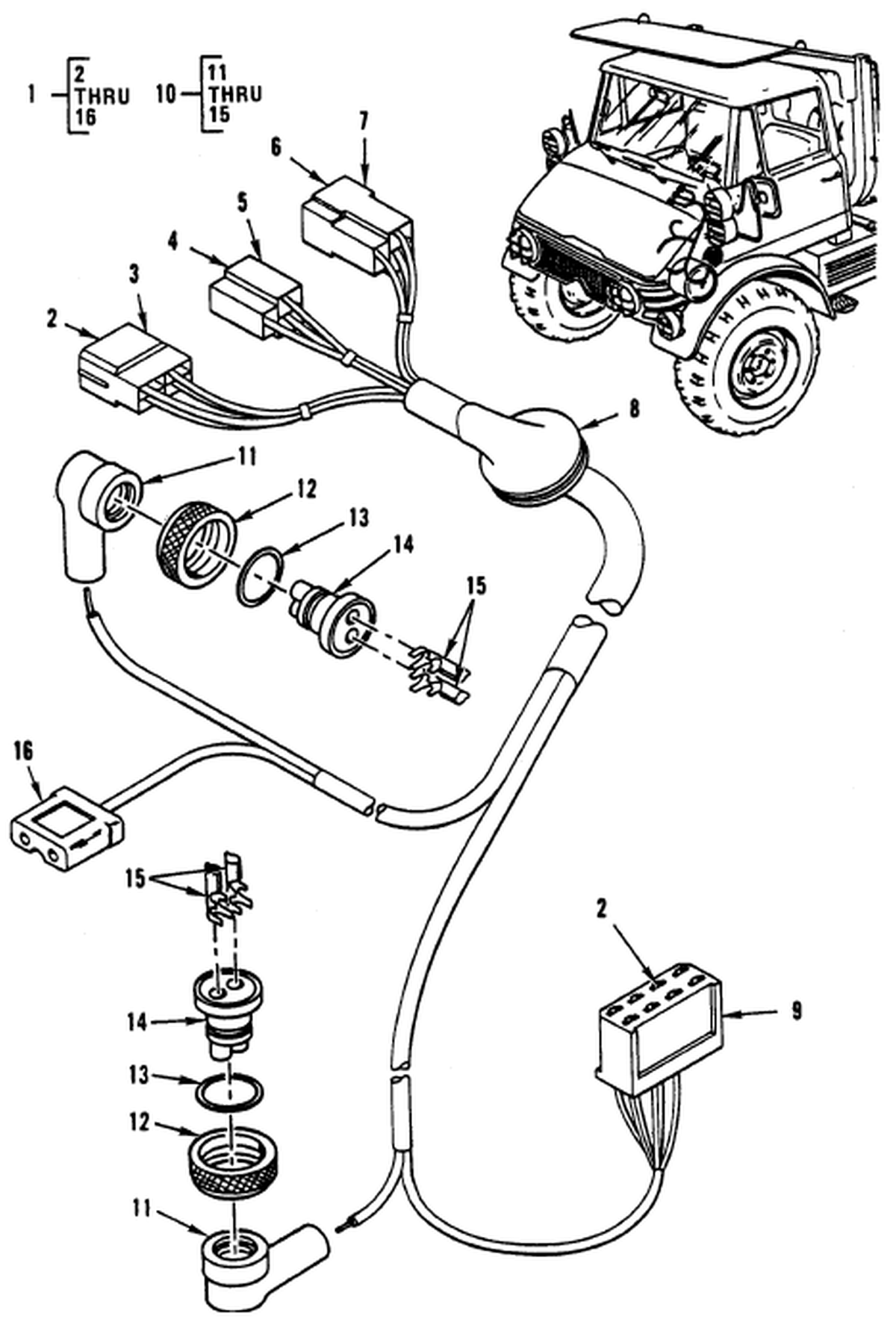 00 2 Figure 90 Hull Or Chassis Wiring Harness