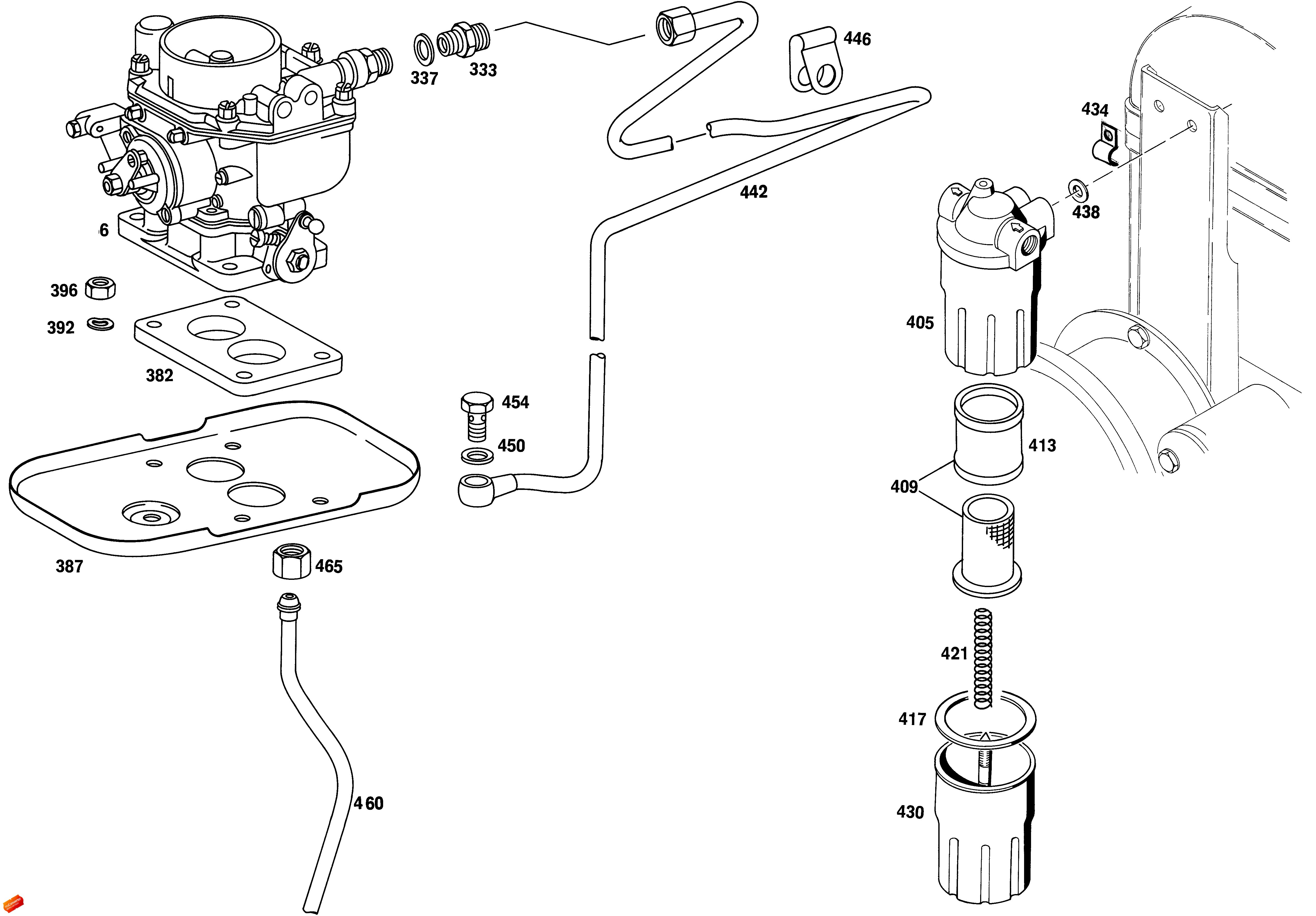 Carburetor Mounting Fuel Lines