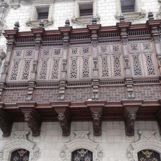Häuserfassade in Lima
