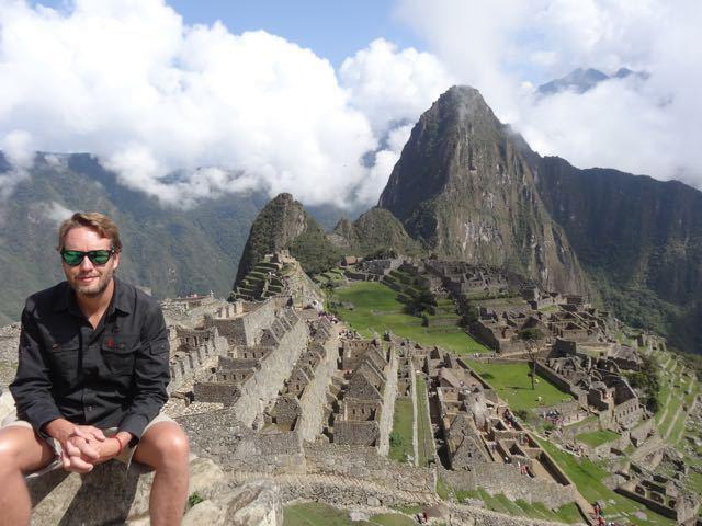 oben angekommen am Machu Picchu