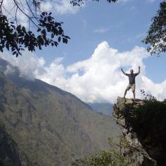 ganz oben am Machu Picchu