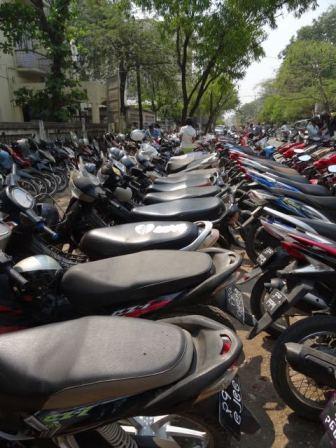Moped-Parkplatz