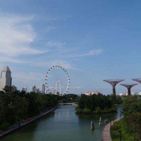Blick auf das moderne Singapur