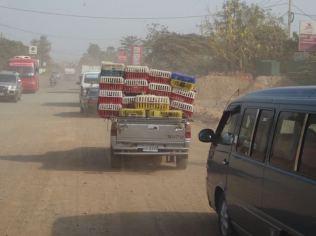 Autobahn in Kambodscha