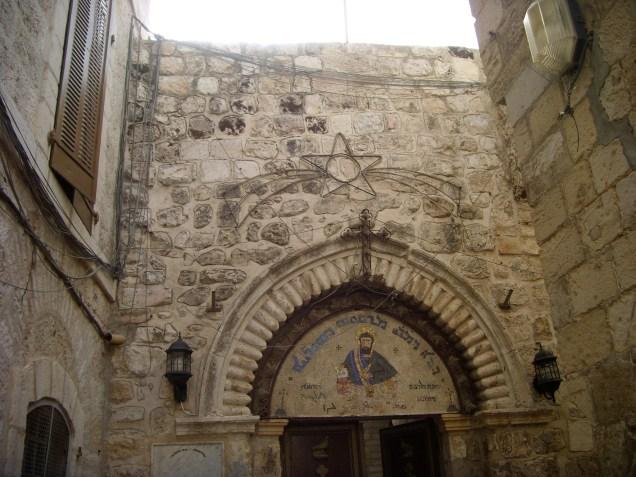 Heiliger Segen über dem Eingang