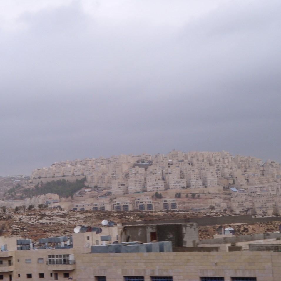 Blick auf die Siedlungen