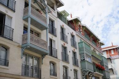 Häuserfassade in Arcachon