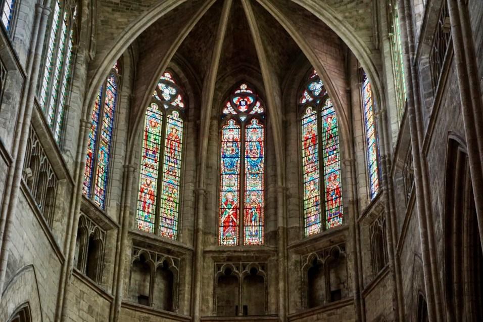 Fenster der Cathédrale Saint-André de Bordeaux