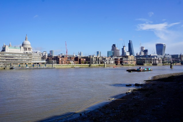 Fluss Themse in London