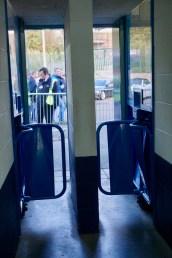 Stadion-Einlasskontrolle