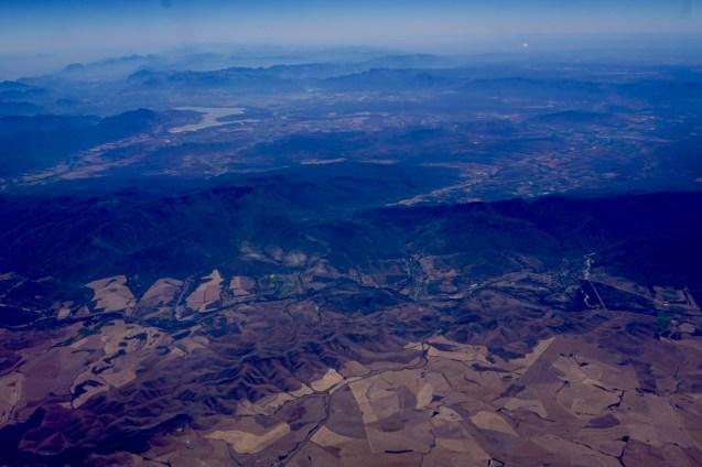 Bild auf dem Flugzeug von Südafrika