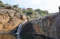 Zipline und Wasserfall in Südafrika
