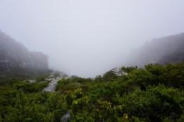 Wolken am Tafelberg