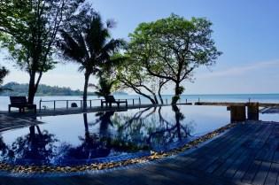 Swimmingpool vor dem Golf von Thailand