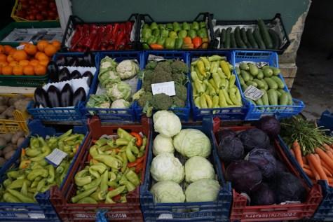 Gemüse von der Felder um Berat