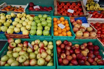 Frisches Obst, direkt vom Feld