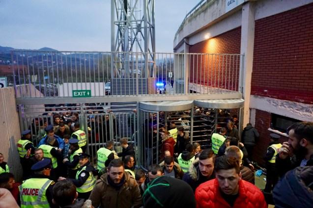 Drehkreuze am Stadioneingang