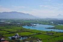Albaniens Felder sind grün