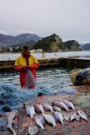 Fischer bei der Arbeit