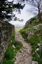 Trampelpfad mit Steinen