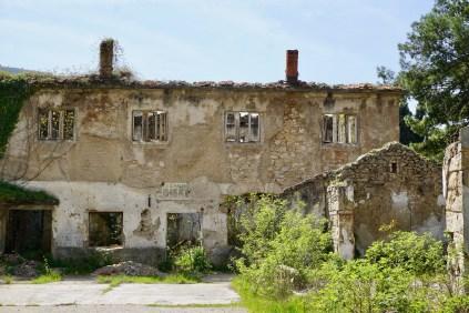 Im Krieg zerstörtes Haus