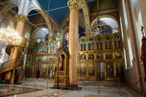 Innenraum der Kathedrale in Sarajevo