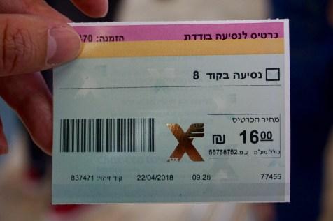 Busticket Tel Aviv - Jerusalem