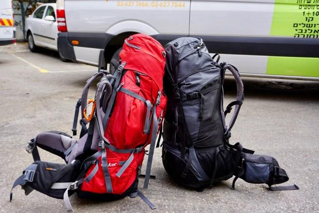 Rucksack auf Reisen