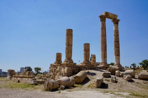Tempel-Ruinen in Jordanien