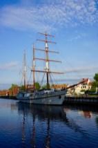 Segelschiff in Klaipeda