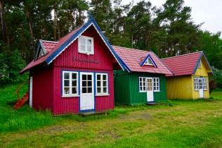 Bunte Holzhäuser