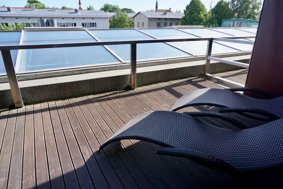 Dachterrasse in Pärnu