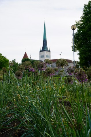 Kirchturm aus Kupfer