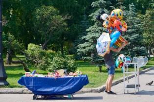 Luftballon- und Spielzeug-Verkauf