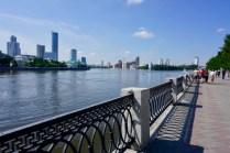 Uferpromenade im Juli