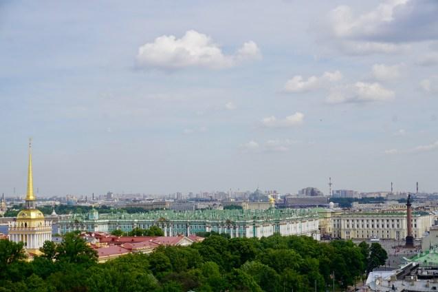 Blick auf die Stadt in Russland