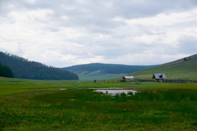 Wohnhäuser in Sibirien