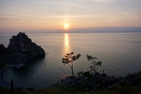Sonnenuntergang in Sibirien