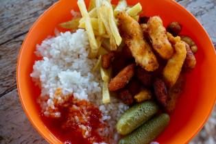 Abendessen auf Gobi-Tour