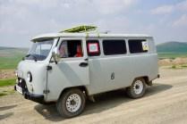 Touristen-Auto in der Mongolei