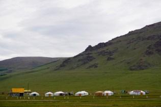 Großes Camp am White Lake