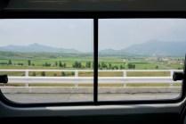 Unterwegs durch die Landschaft in Nordkorea