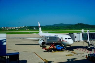 Per Flug nach Pjöngjang