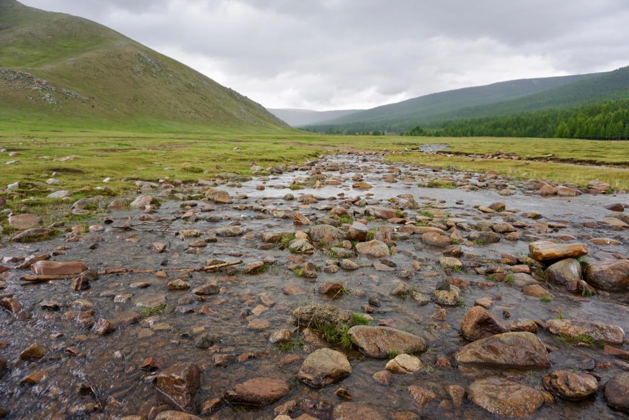 Fluss im August